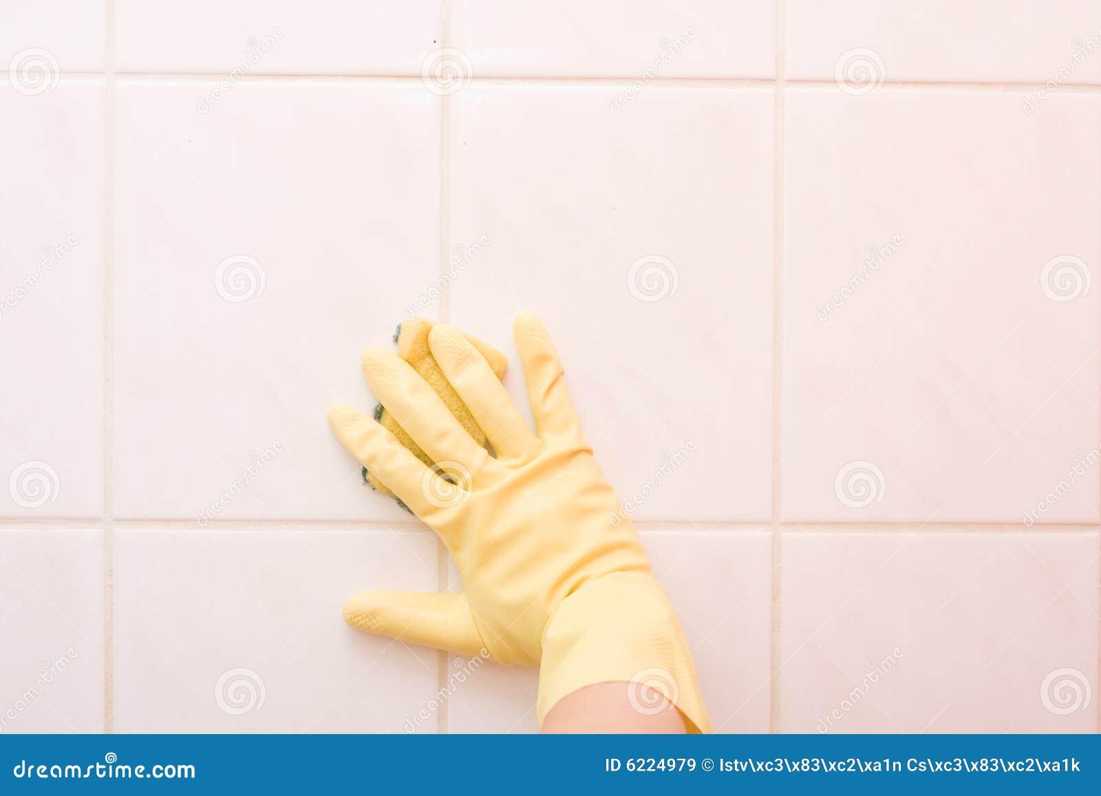 Nettoyage de salle de bains images libres de droits for Nettoyage salle de bain