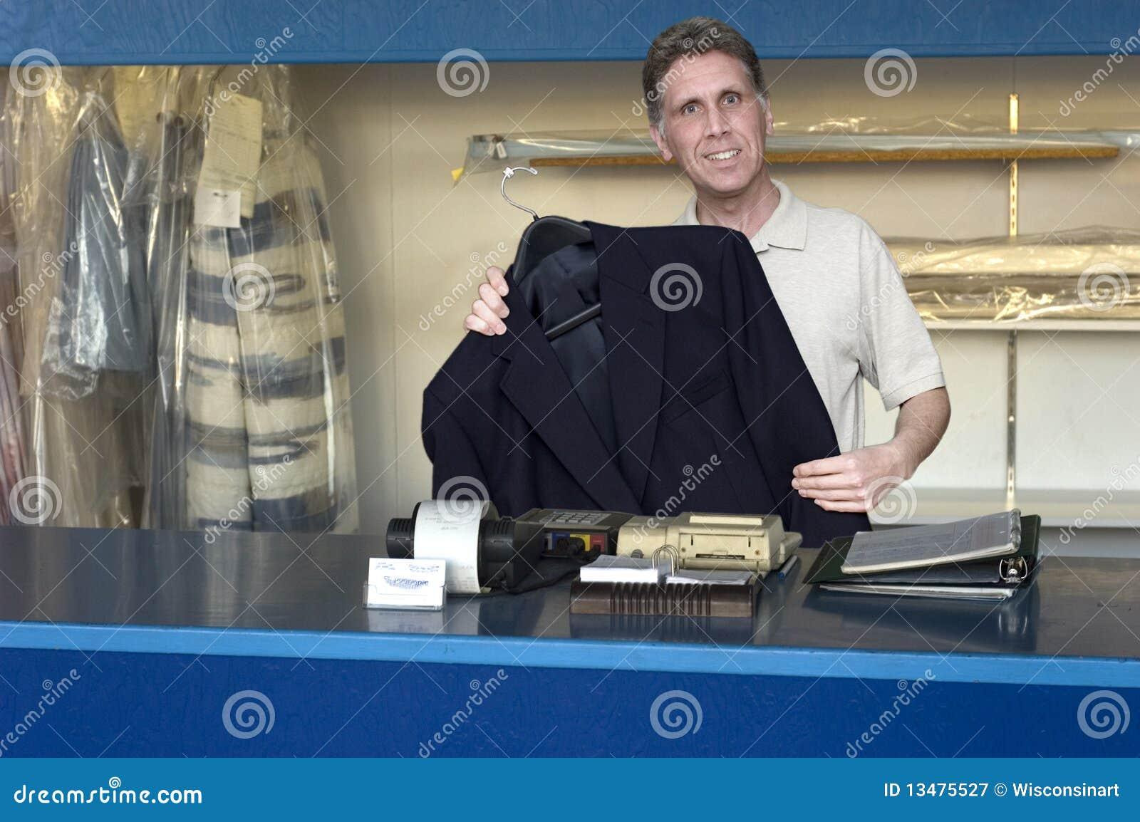 Nettoyeurs à sec, petite entreprise, nettoyage de blanchisserie