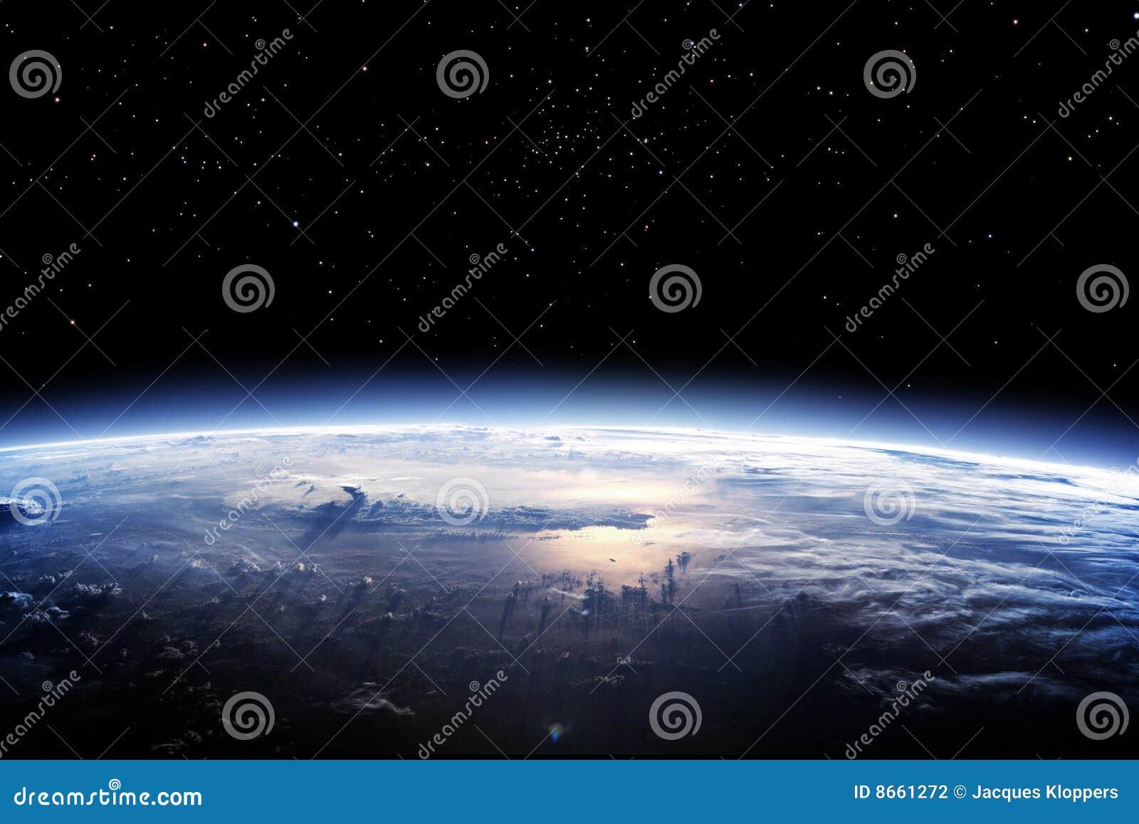 Nettoyez l espace d horizon de la terre