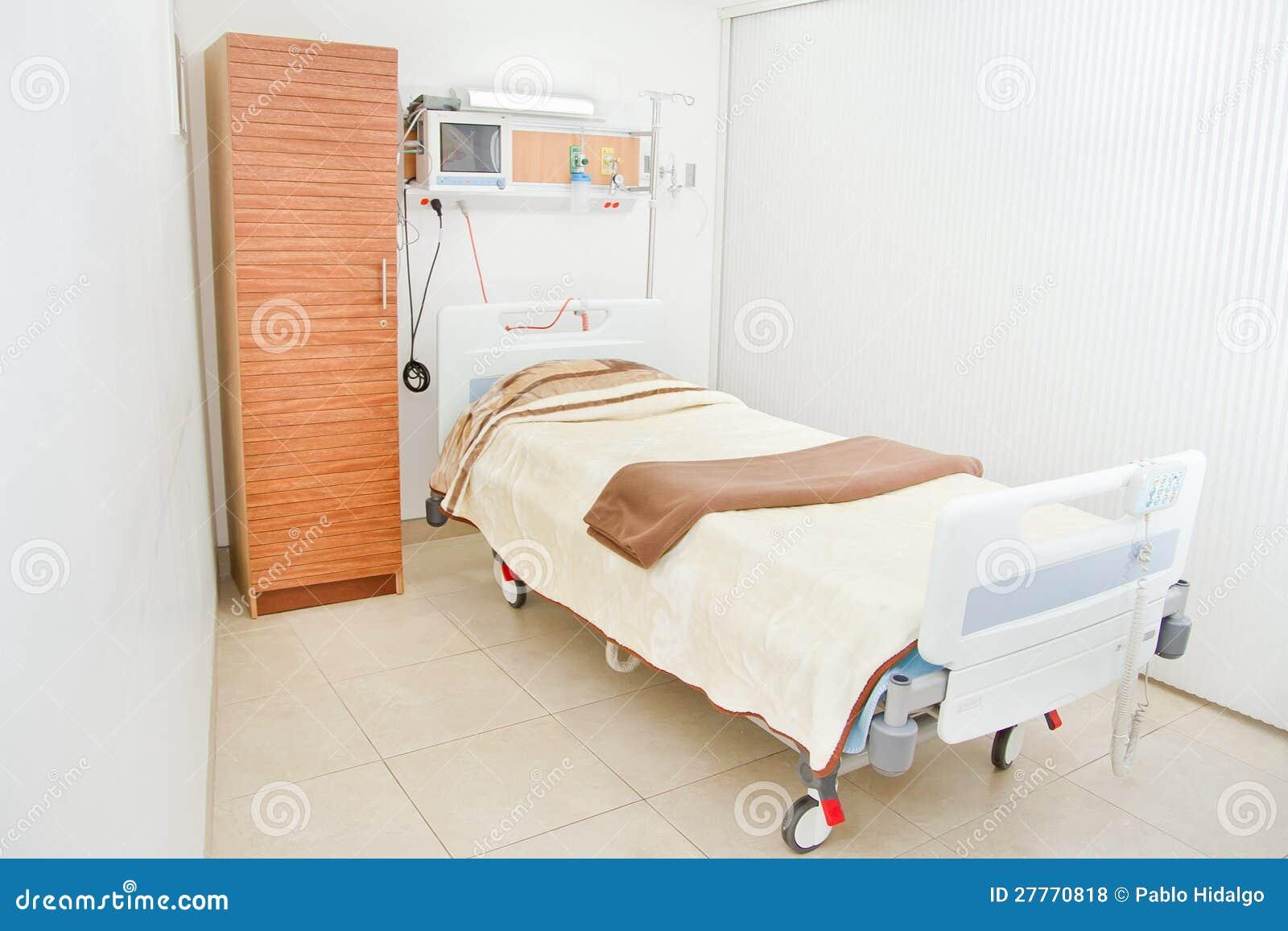 Nettoyez la pièce d hôpital vide prête pour un patient