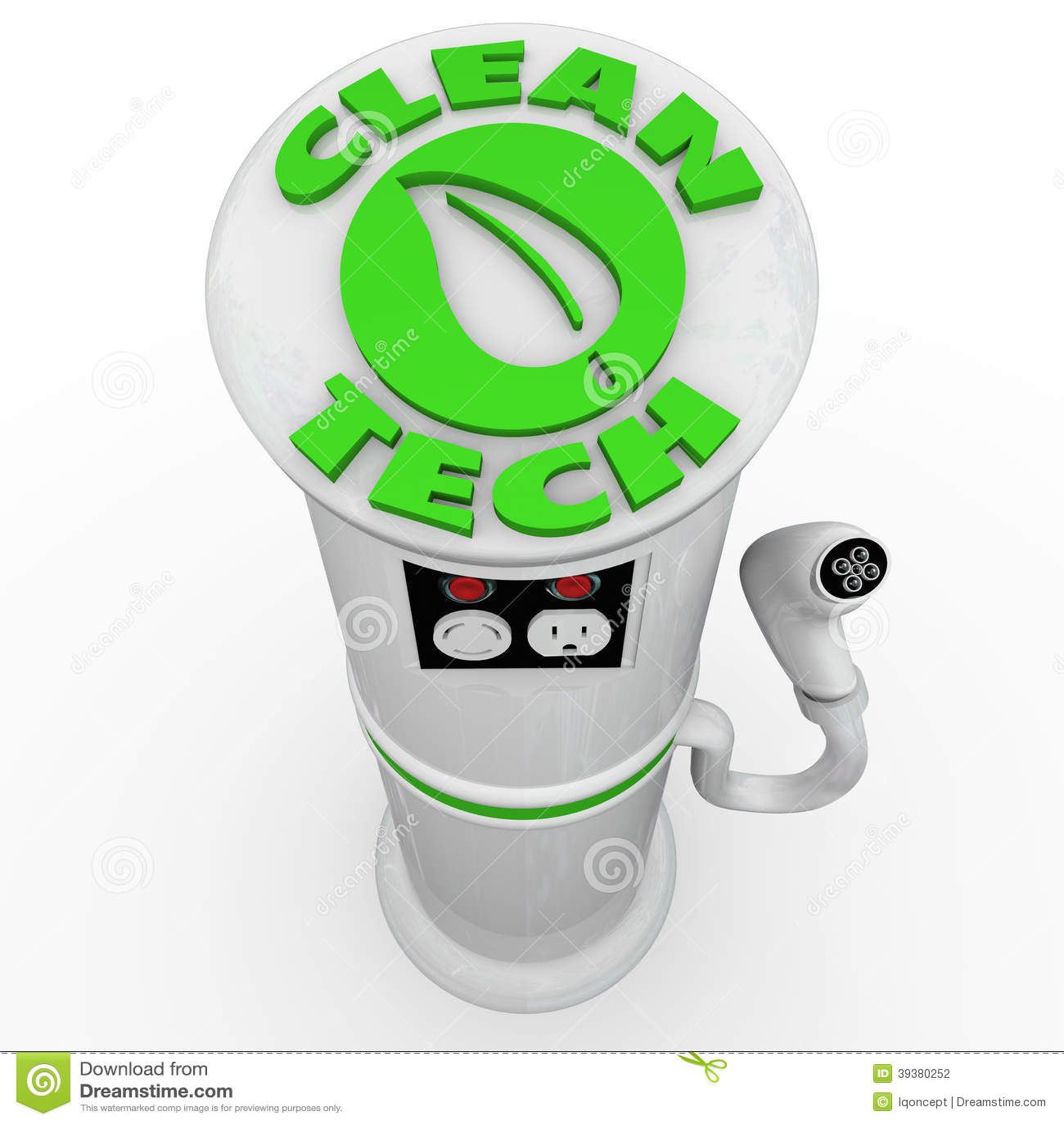 Nettoyez la prise de puissance de station de charge de voiture de véhicule électrique de la technologie EV