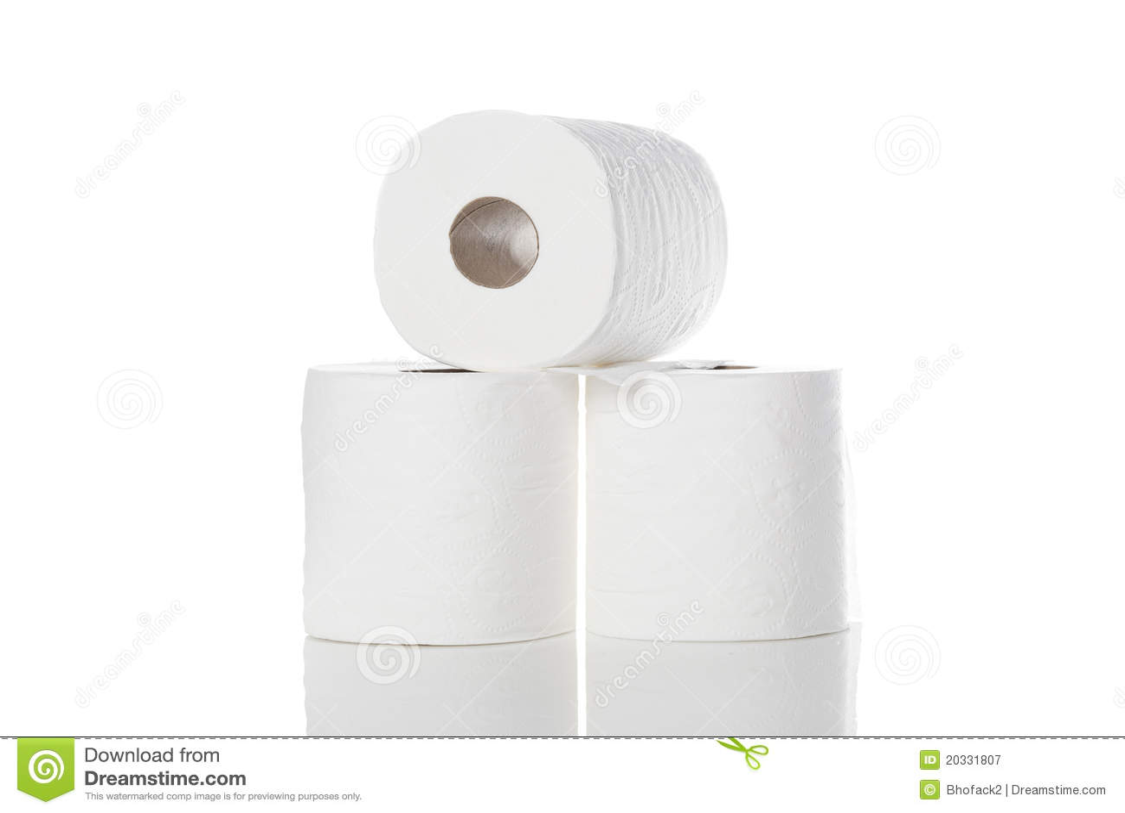 Nettoyez le papier hygiénique blanc