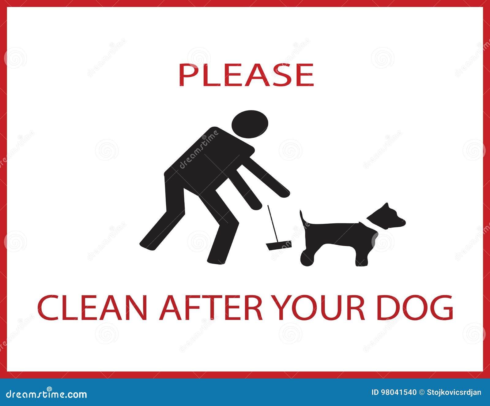 Nettoyez svp après votre chien