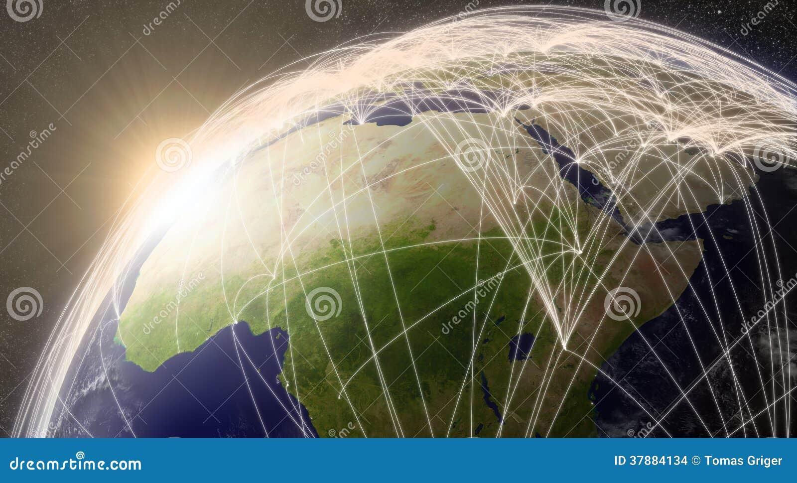 Netwerk over Noord-Afrika