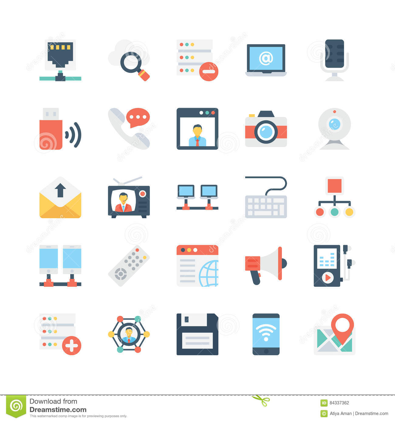 Network and Communications Vector Icons 3
