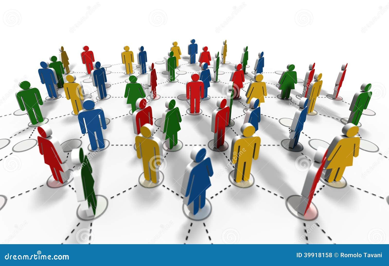 Network Community Stock Illustration - Image: 39918158