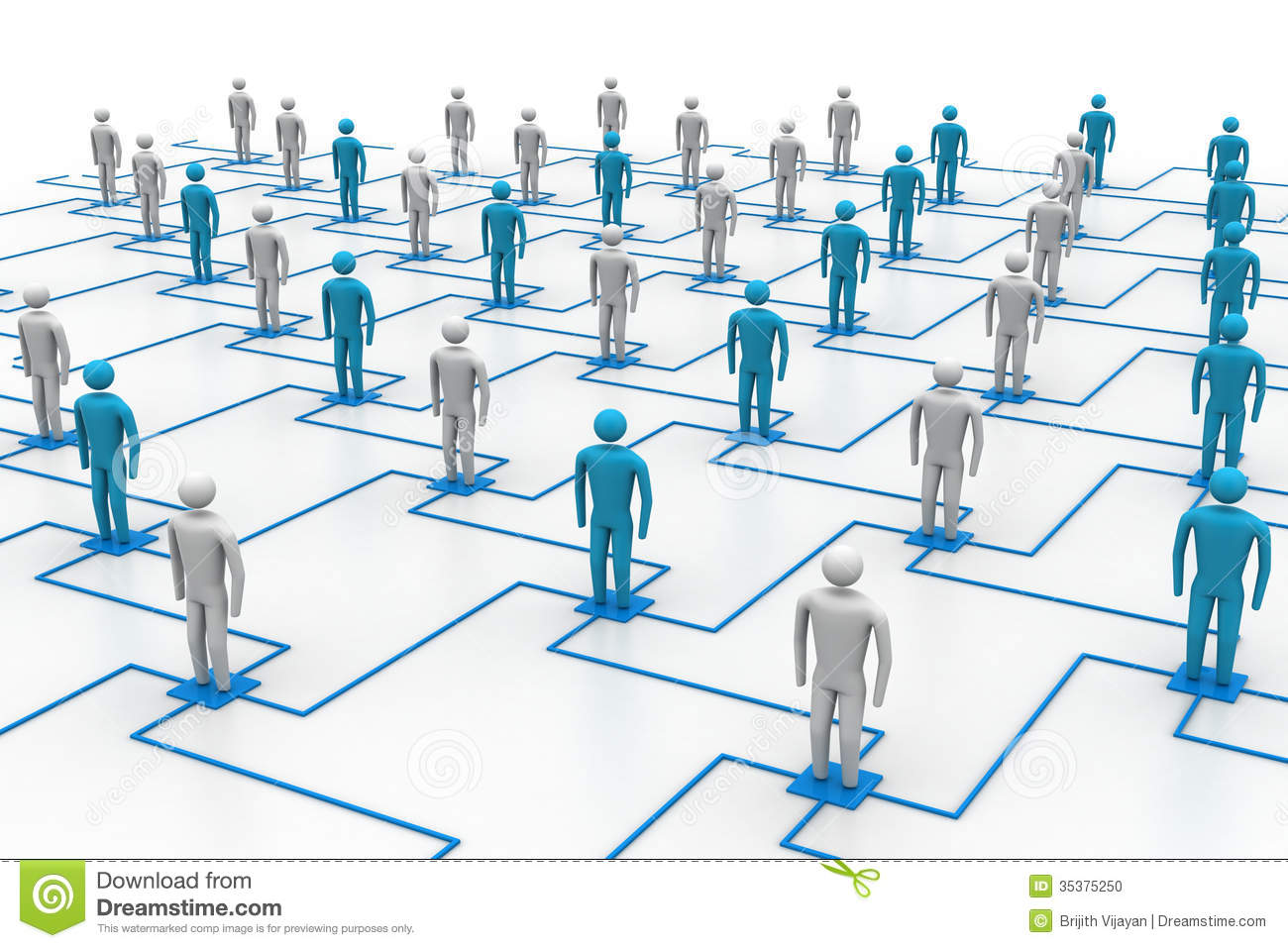 Network, Connecting People Stock Photo  Image: 35375250