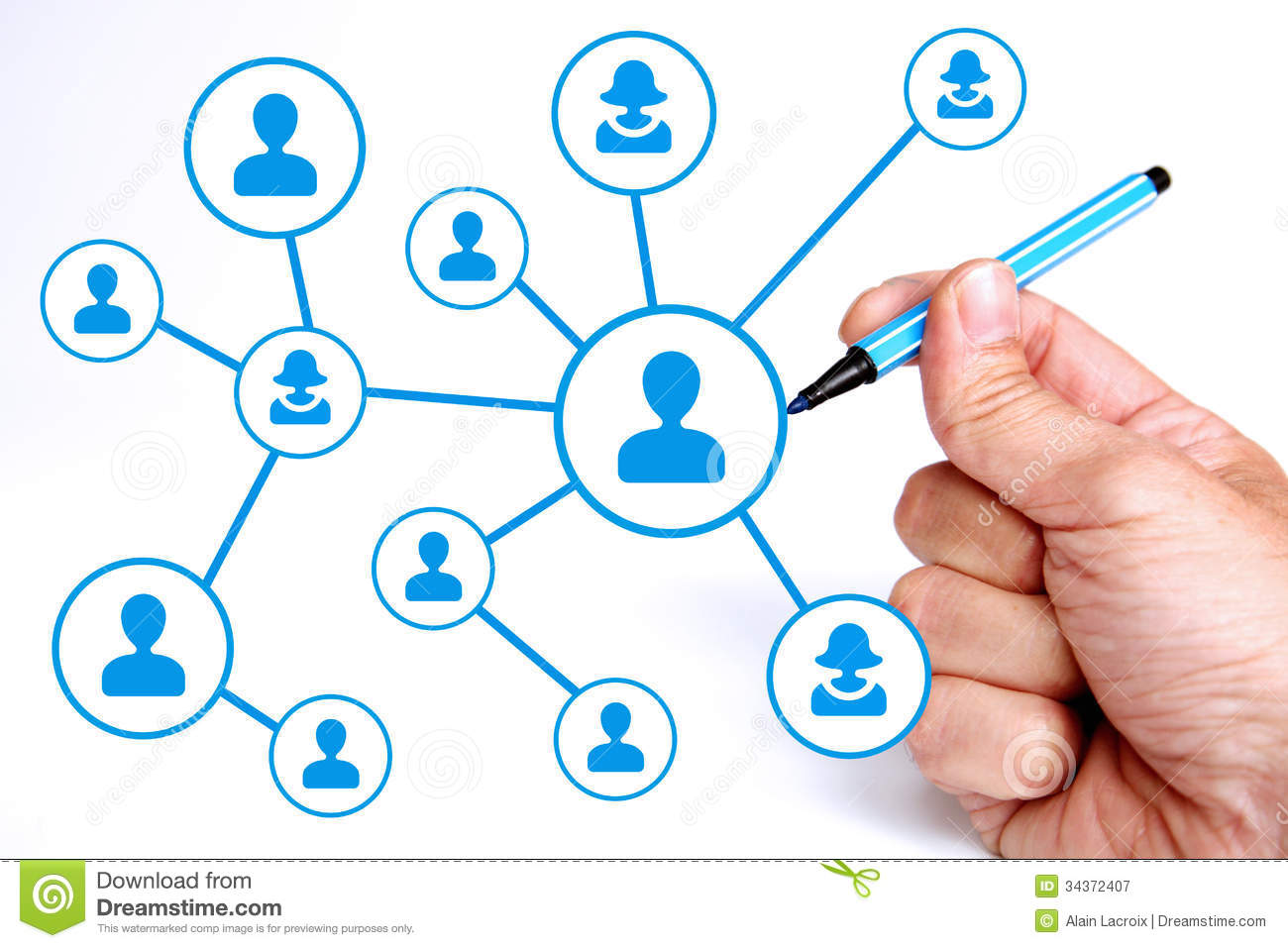 Network Connections Royalty Free Stock Photography - Image: 34372407