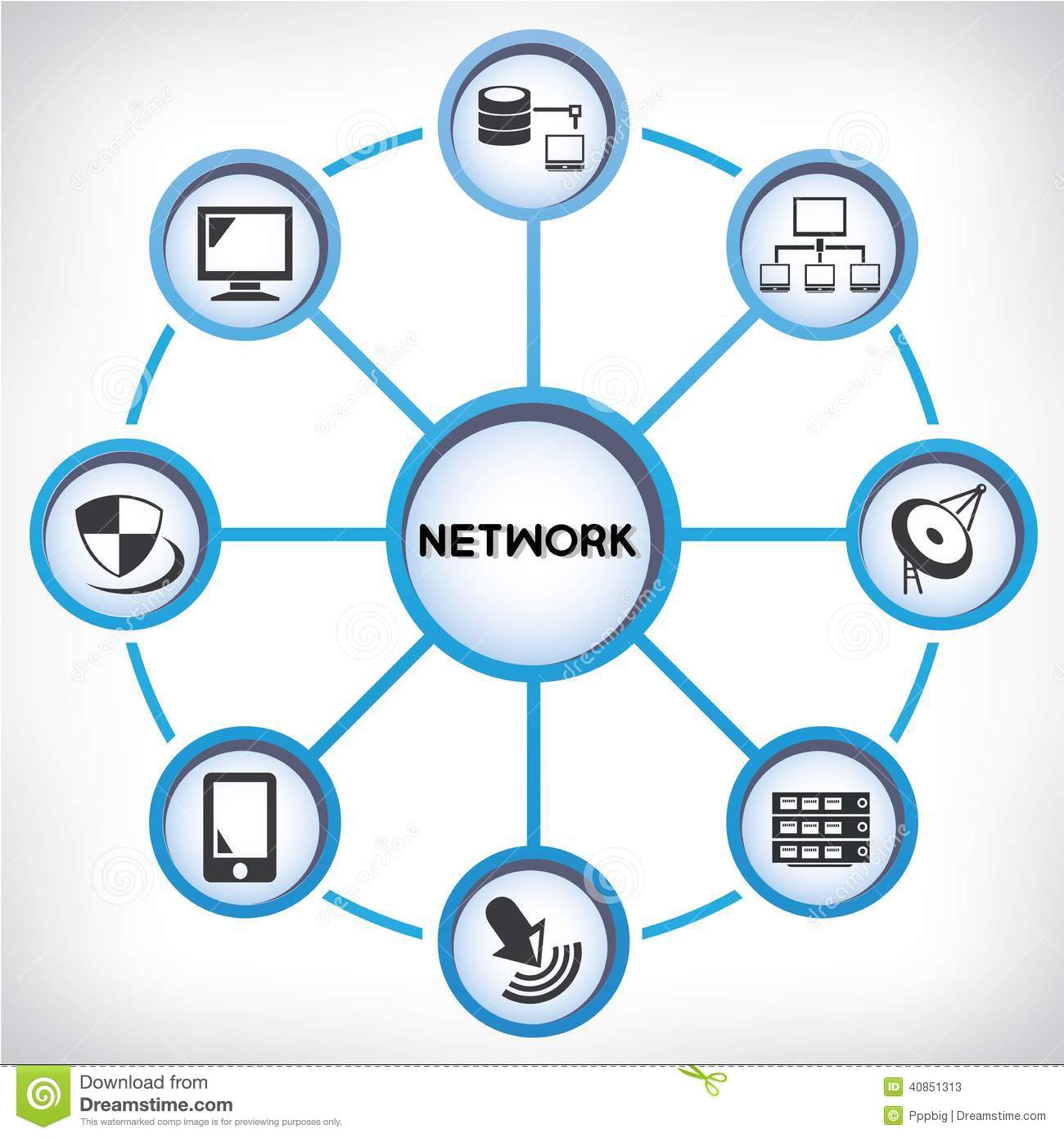Network Diagram Stock Illustration