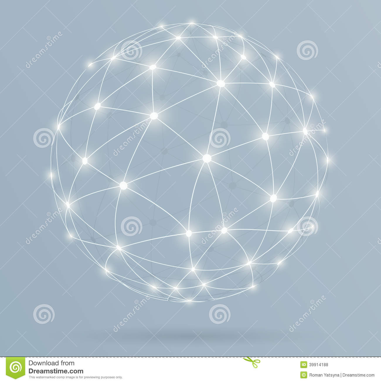 Download Network, Global Digital Connections With Glowing Lines Stock Vector - Illustration of internet, blue: 39914188