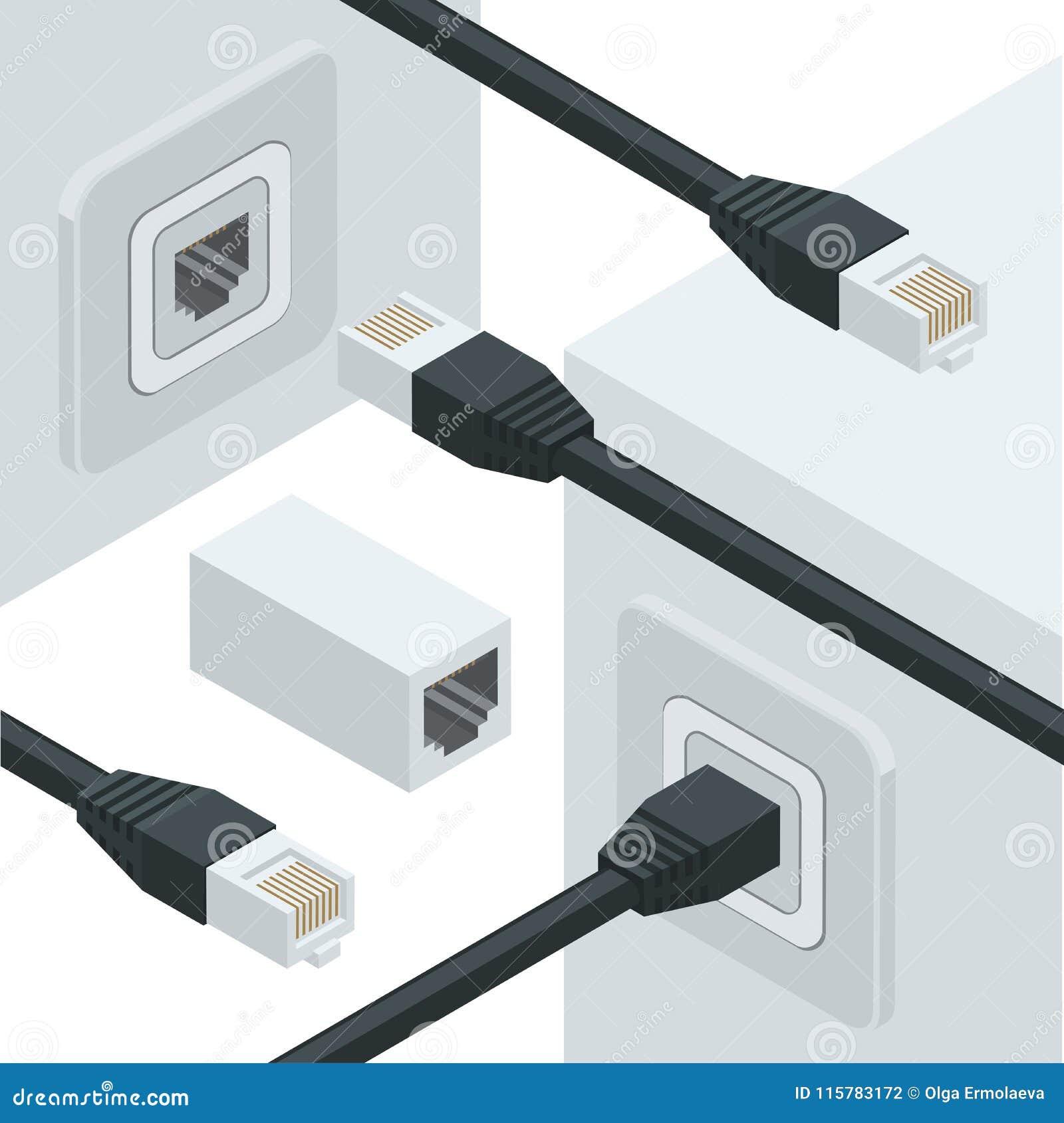 Network Internet Data Connectors Stock Vector - Illustration of ...