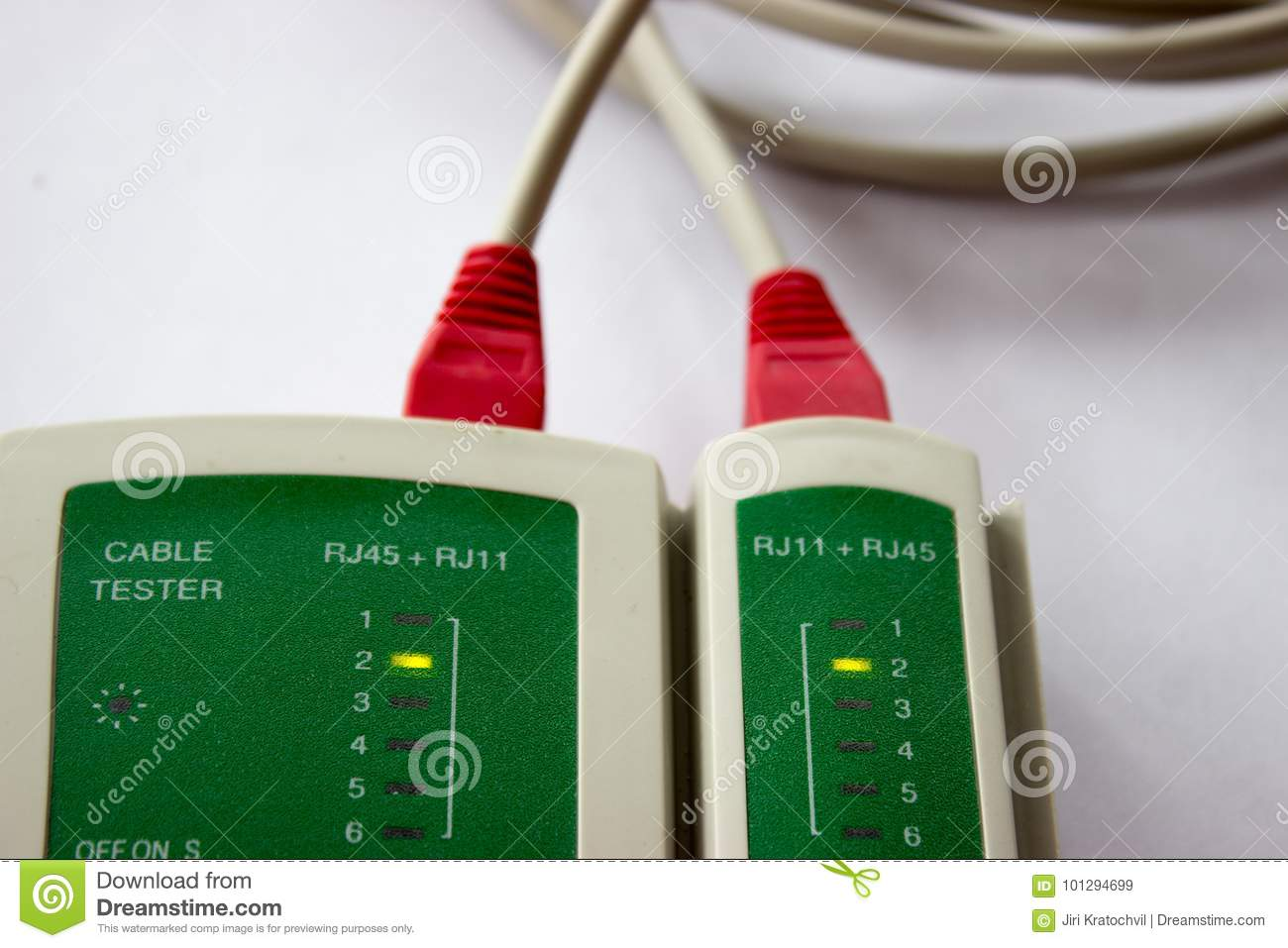 Network Lan Cable Testing Stock Image Of 101294699 Tester