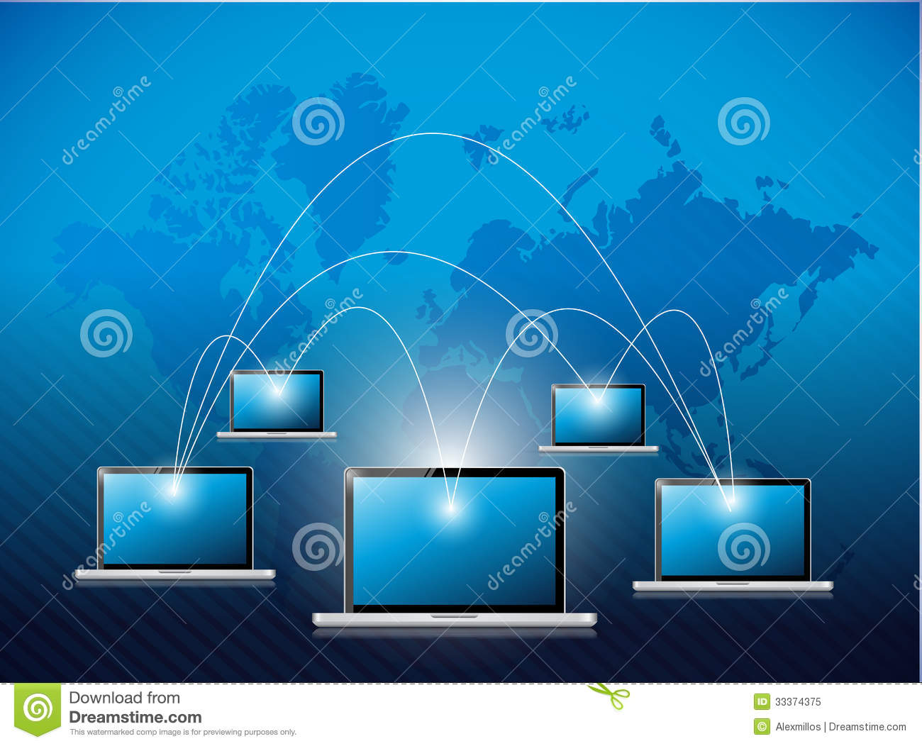Network laptop connection illustration design stock illustration network laptop connection illustration design gumiabroncs Choice Image