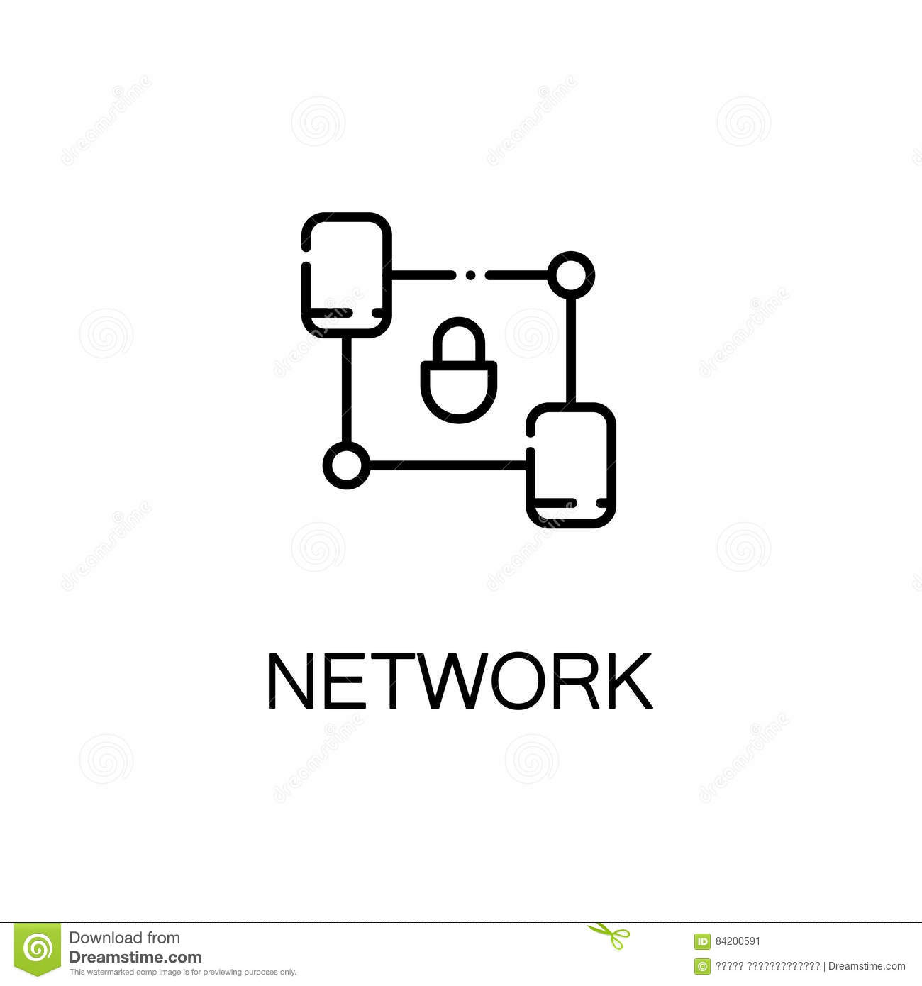 Network Line Icon Stock Vector Illustration Of Link 84200591