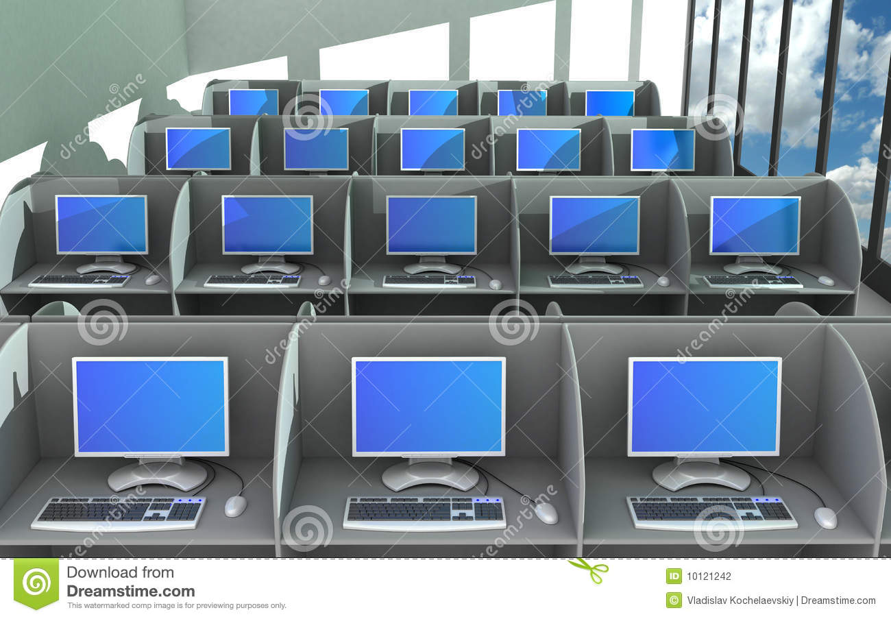 Network In Office Room Stock Photography - Image: 10121242