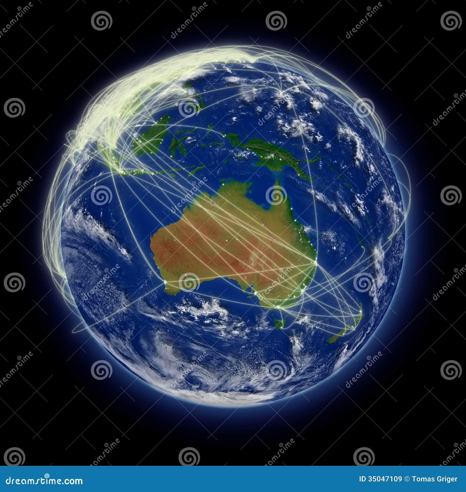 network over australia stock illustration  illustration of travel