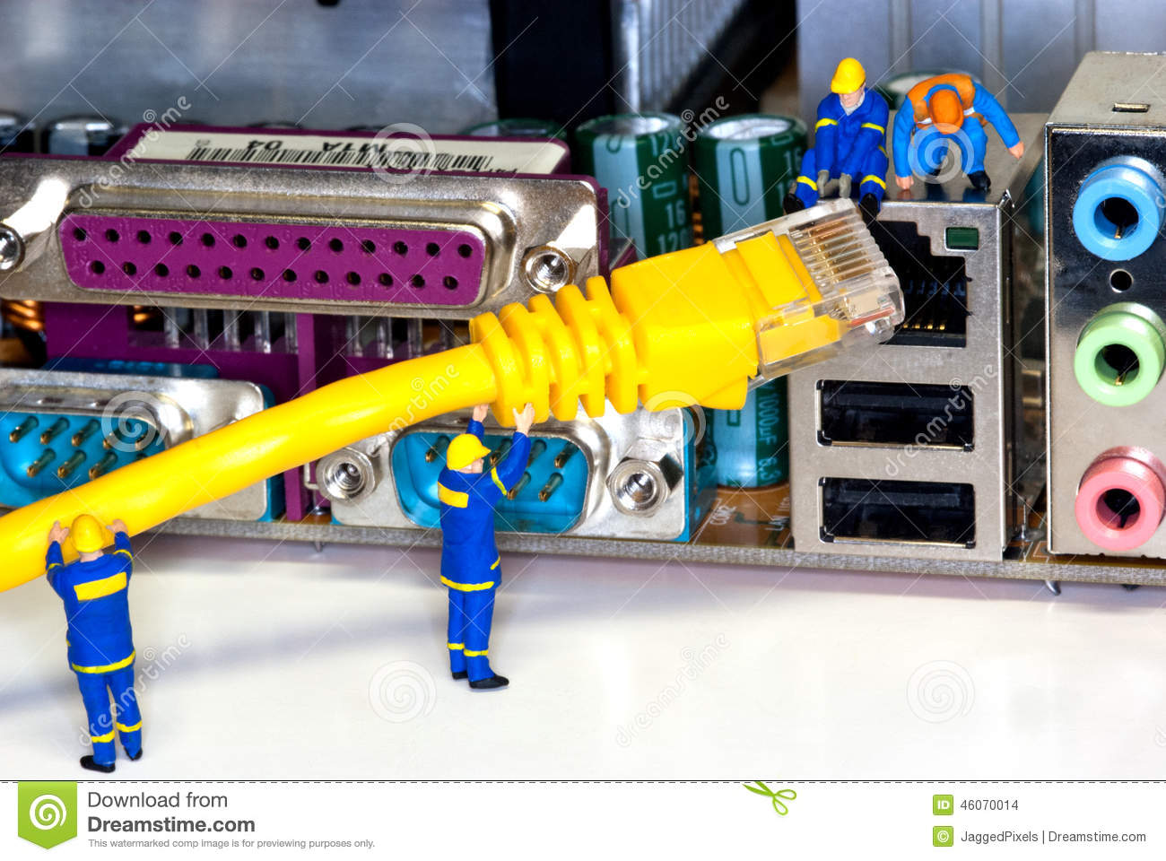 Network repair stock photo image 46070014 for Contractors network