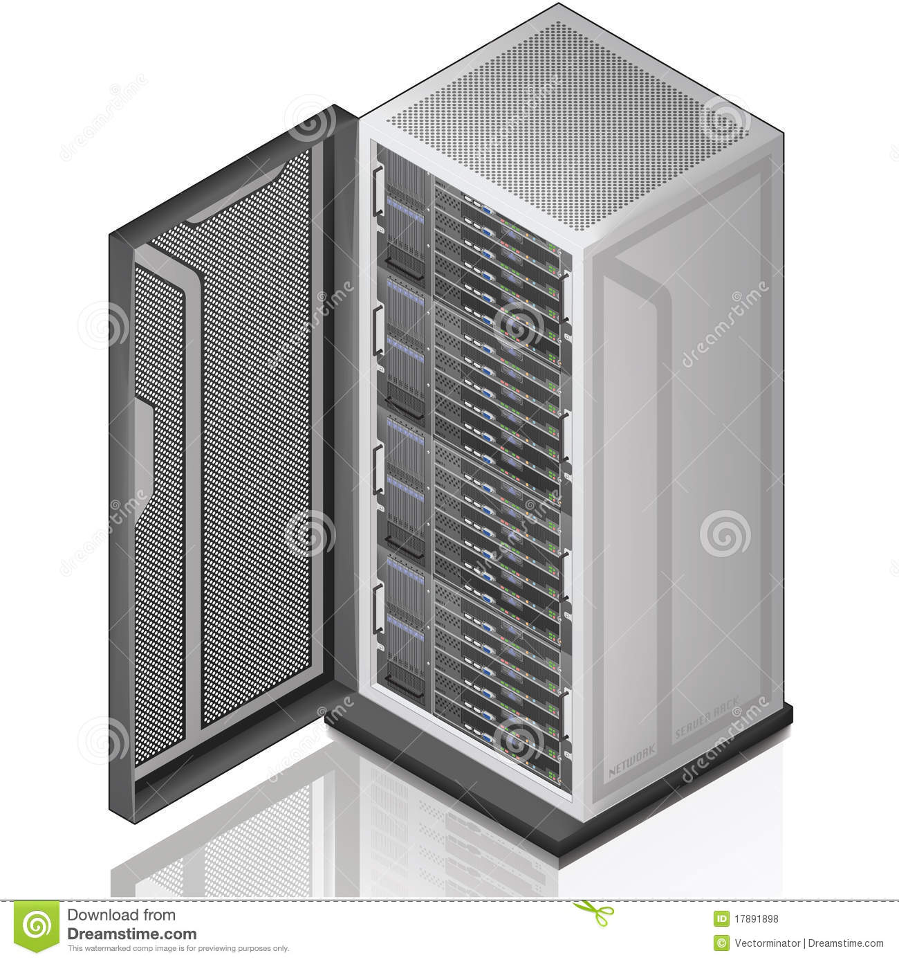 Network Server Rack Royalty Free Stock Photos Image