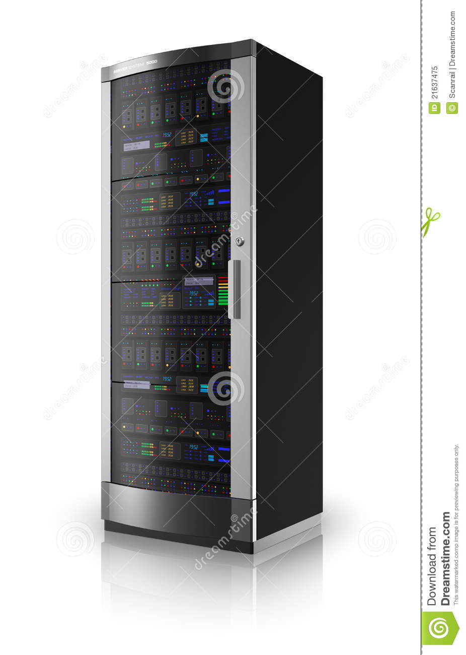 Free Internet Security >> Network Server Rack Royalty Free Stock Photo - Image: 21637475