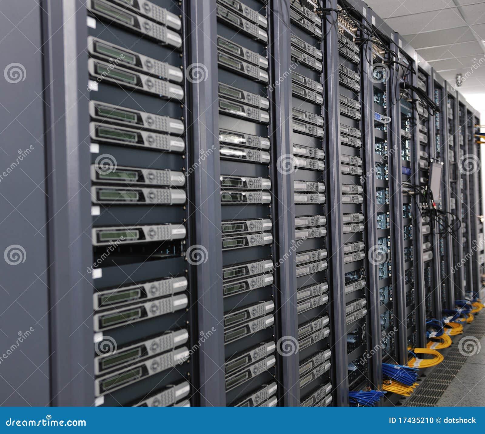 Network Server Room Stock Photo Image 17435210