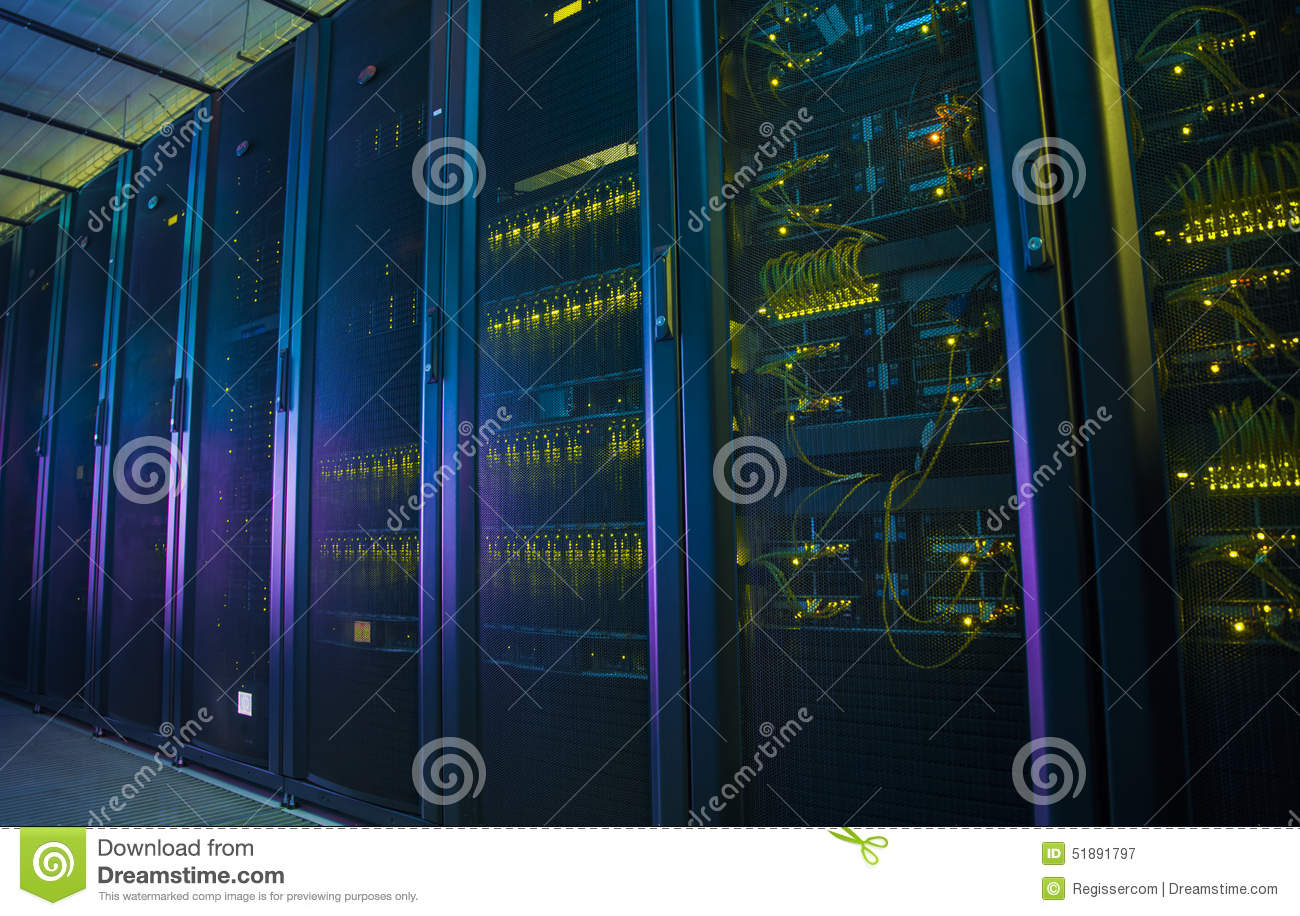 Network servers in a data center.