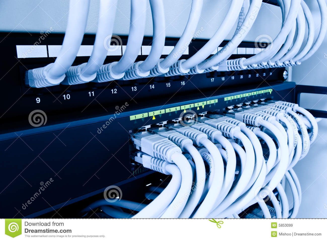 Network Switch Stock Image Image Of Connection Electronics 5853099
