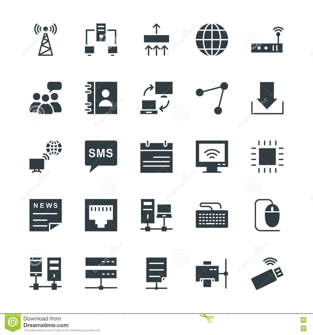Networking Cool Vector Icons 1 Stock Illustration