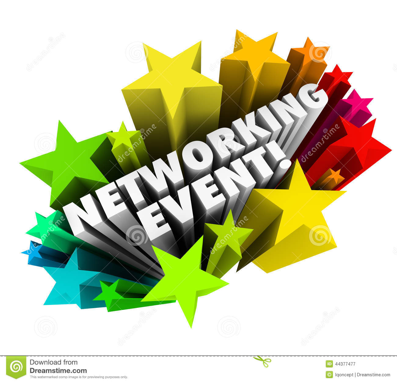 networking event stars words invitation meeting business minglin stock illustration