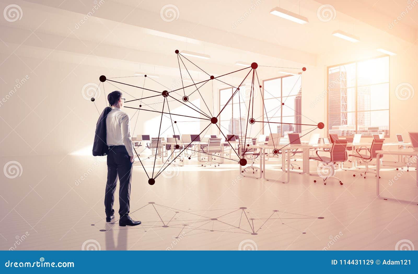 Networking i socjalny komunikacyjny pojęcie jako wydajny punkt f