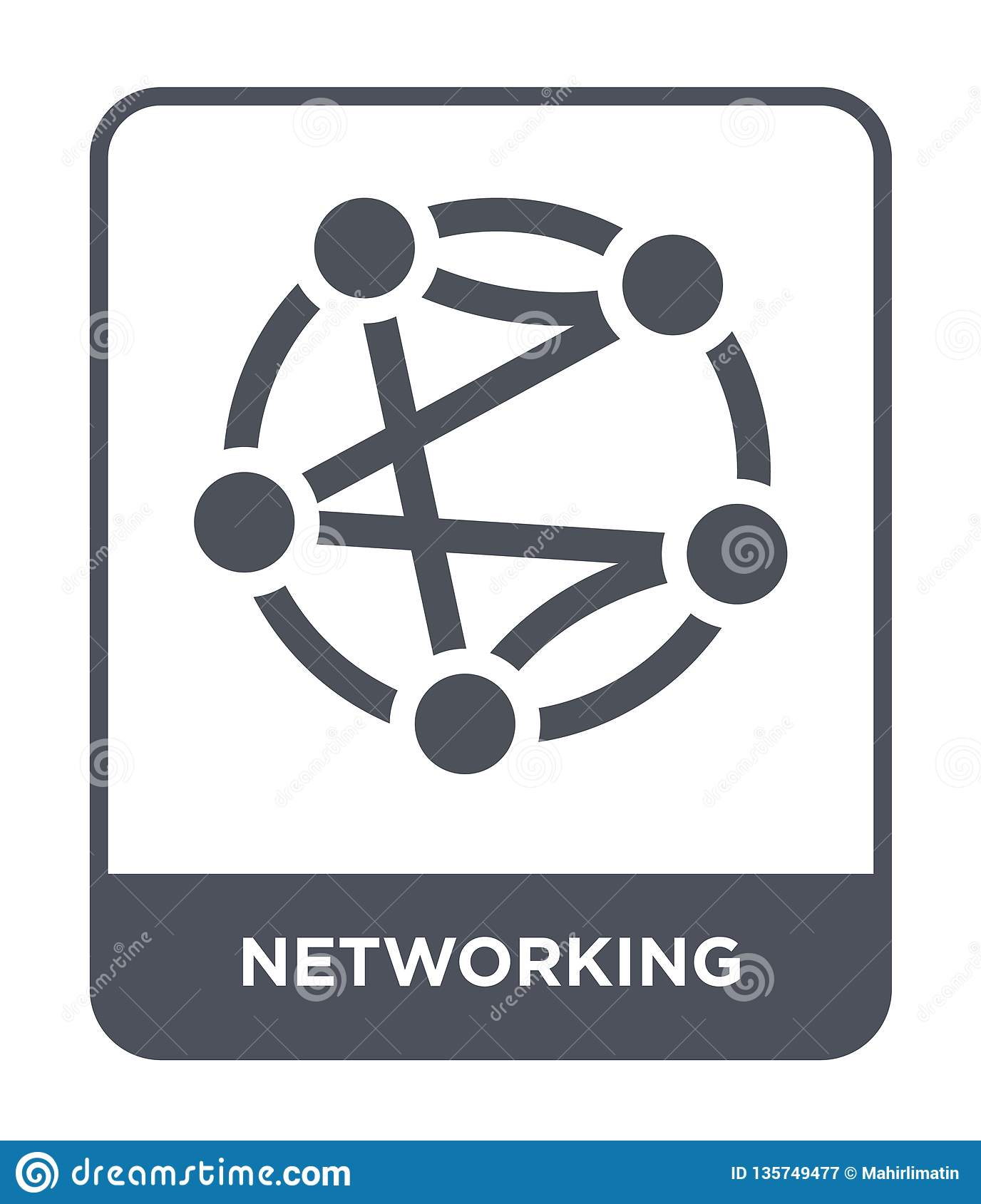networking icon in trendy design style. networking icon isolated on white background. networking vector icon simple and modern