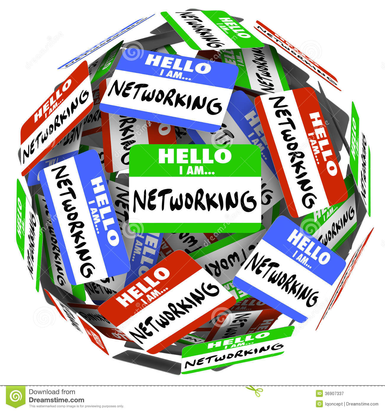 networking name tag sticker ball sphere meet greet new opportuni