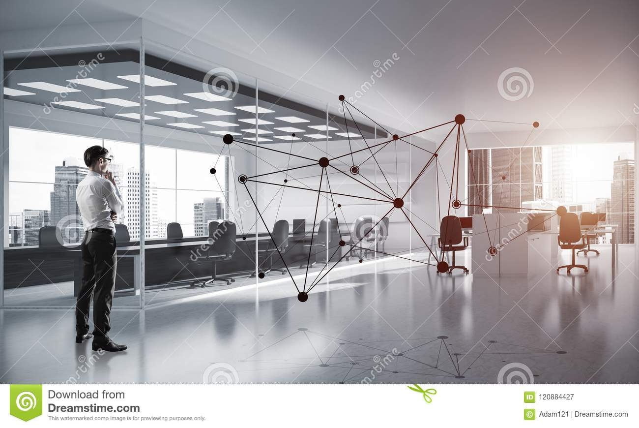 Networking and social communication concept as effective point f