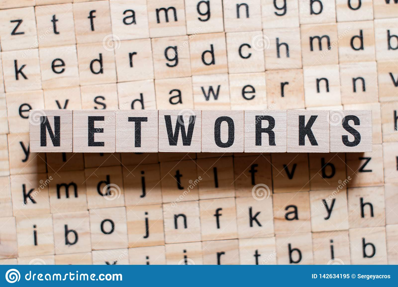 Networks word concept