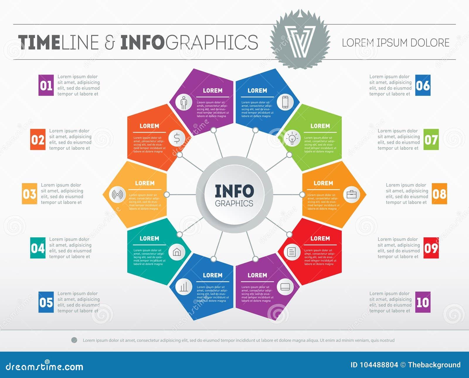 Netz-Schablone für Kreisdiagramm oder -darstellung Geschäft infogr