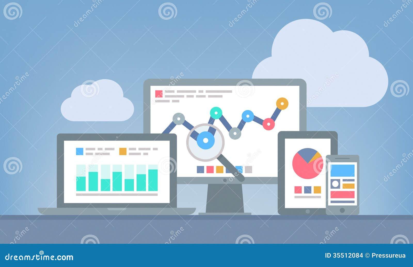 Netz und SEO-Analytikkonzept