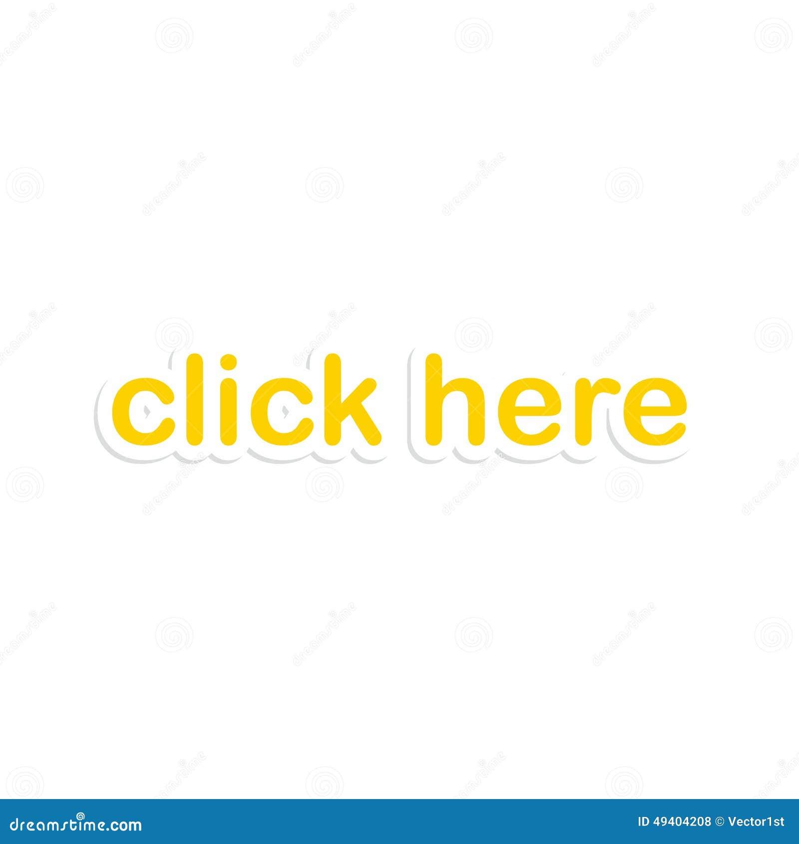 Download Netzaufkleberpapier-Knopfikone Vektor Abbildung - Illustration von text, klicken: 49404208