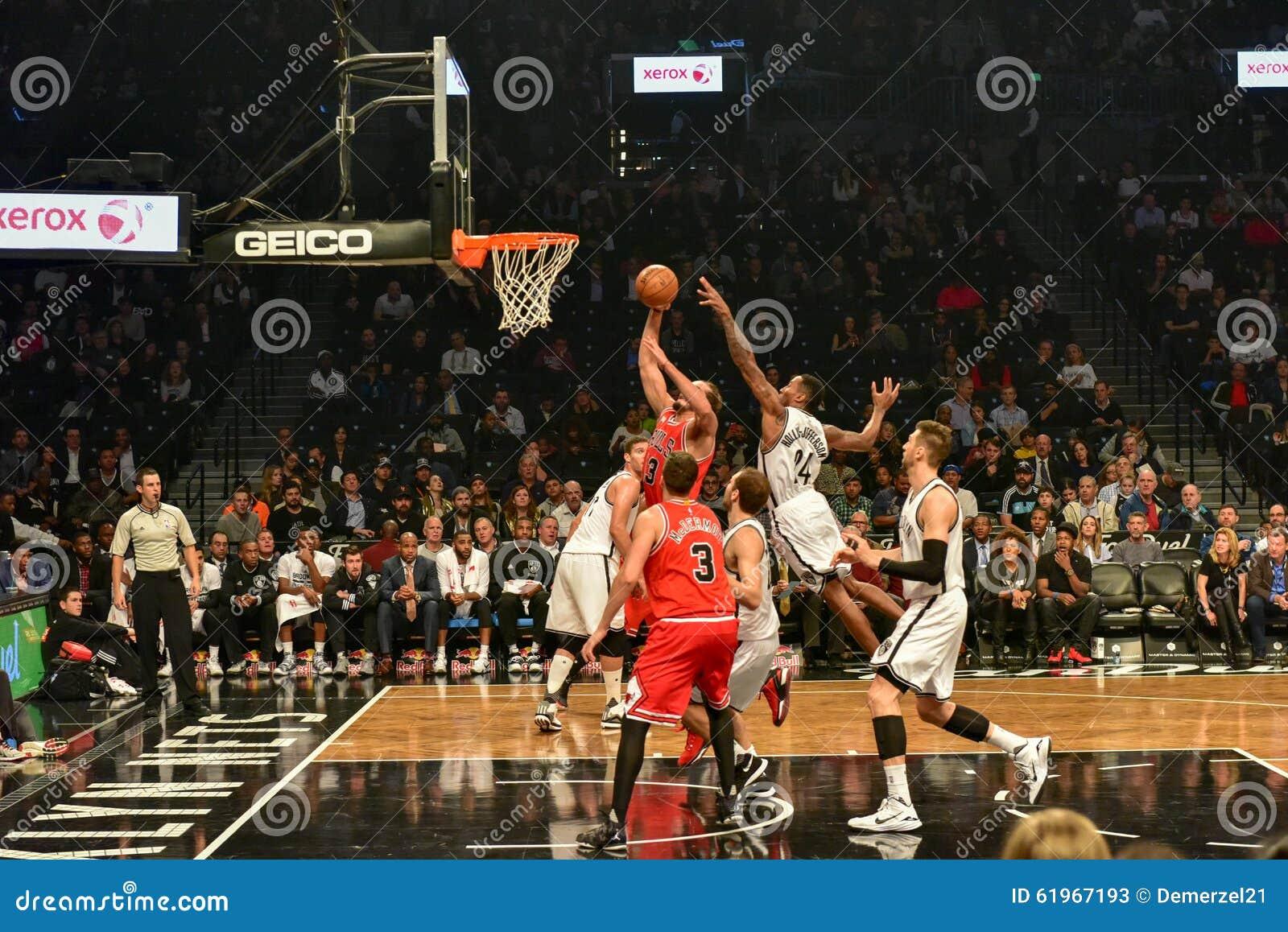 Netze gegen Stier-Basketball in Barclays-Center