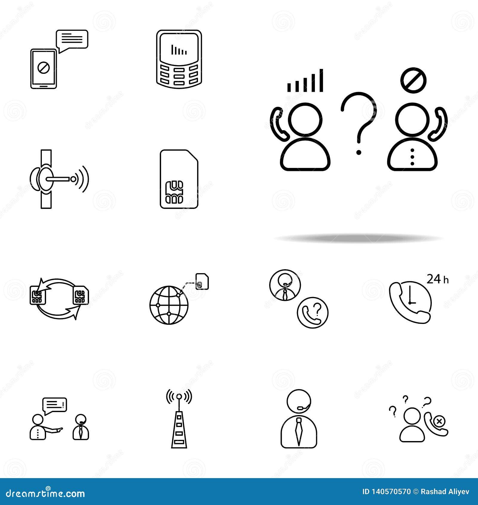 Netztrennungsikone Telekommunikationsikonen-Universalsatz für Netz und Mobile