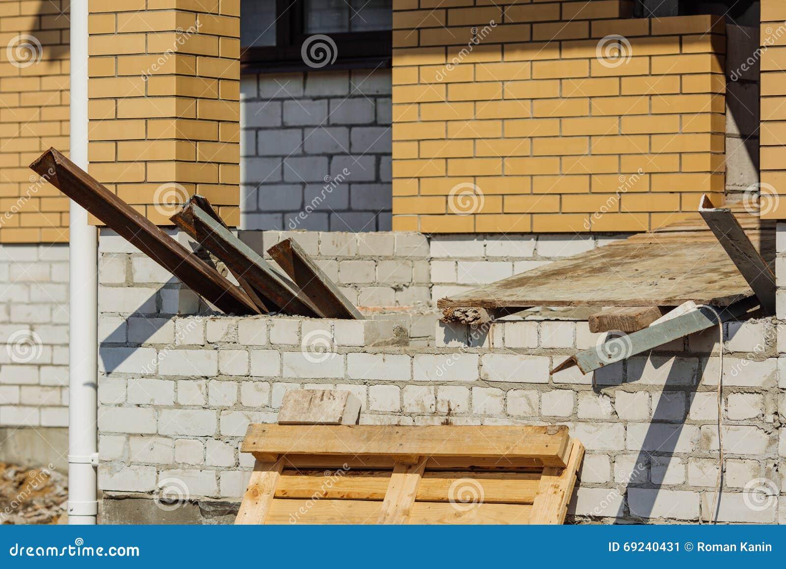 Fußboden Im Neubau ~ Neubau backsteinhaus bau stockbild bild von fußboden