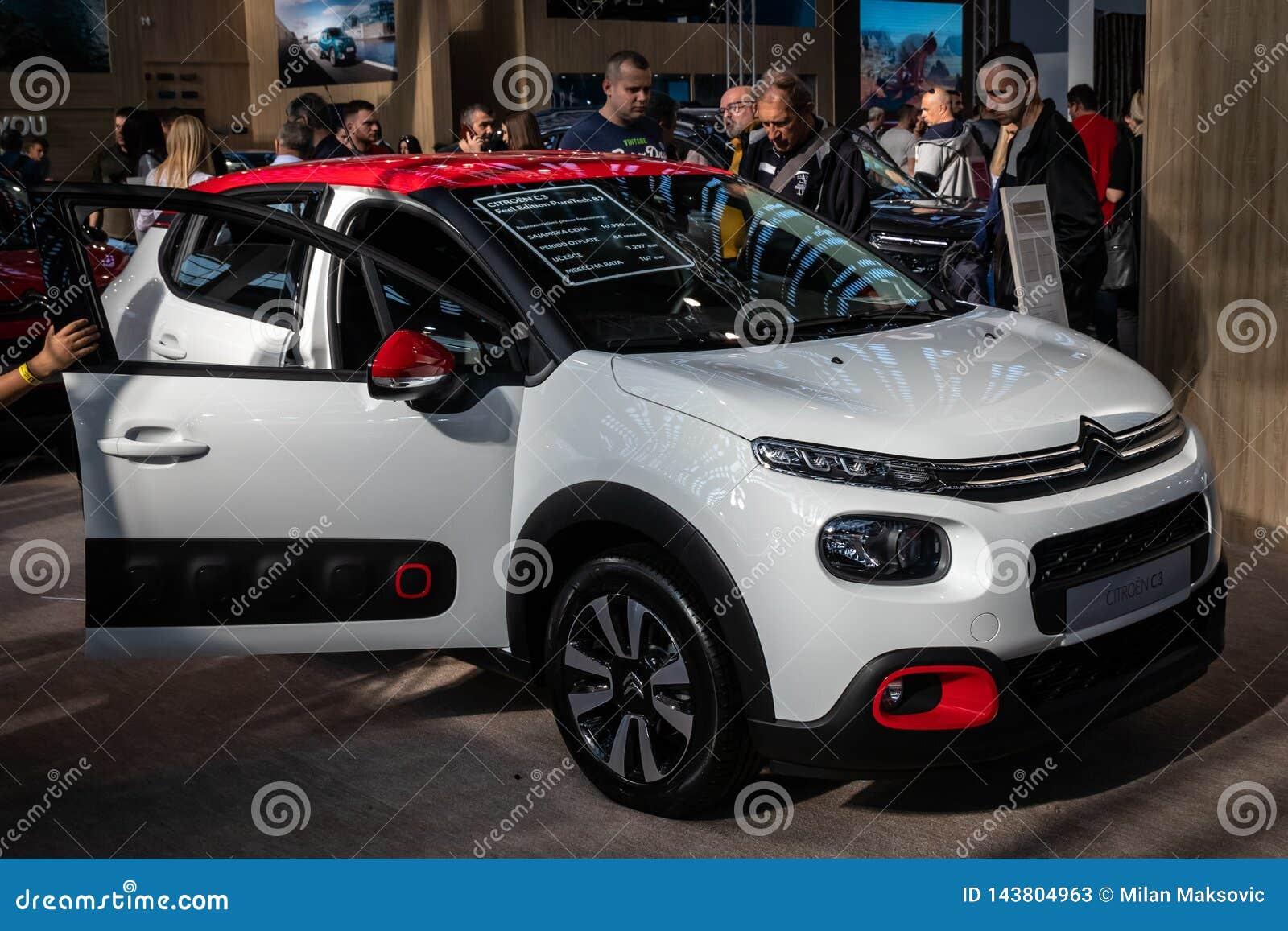 Neue Citroen-Autos auf 54. internationaler Auto- und Autoausstellung Belgrads