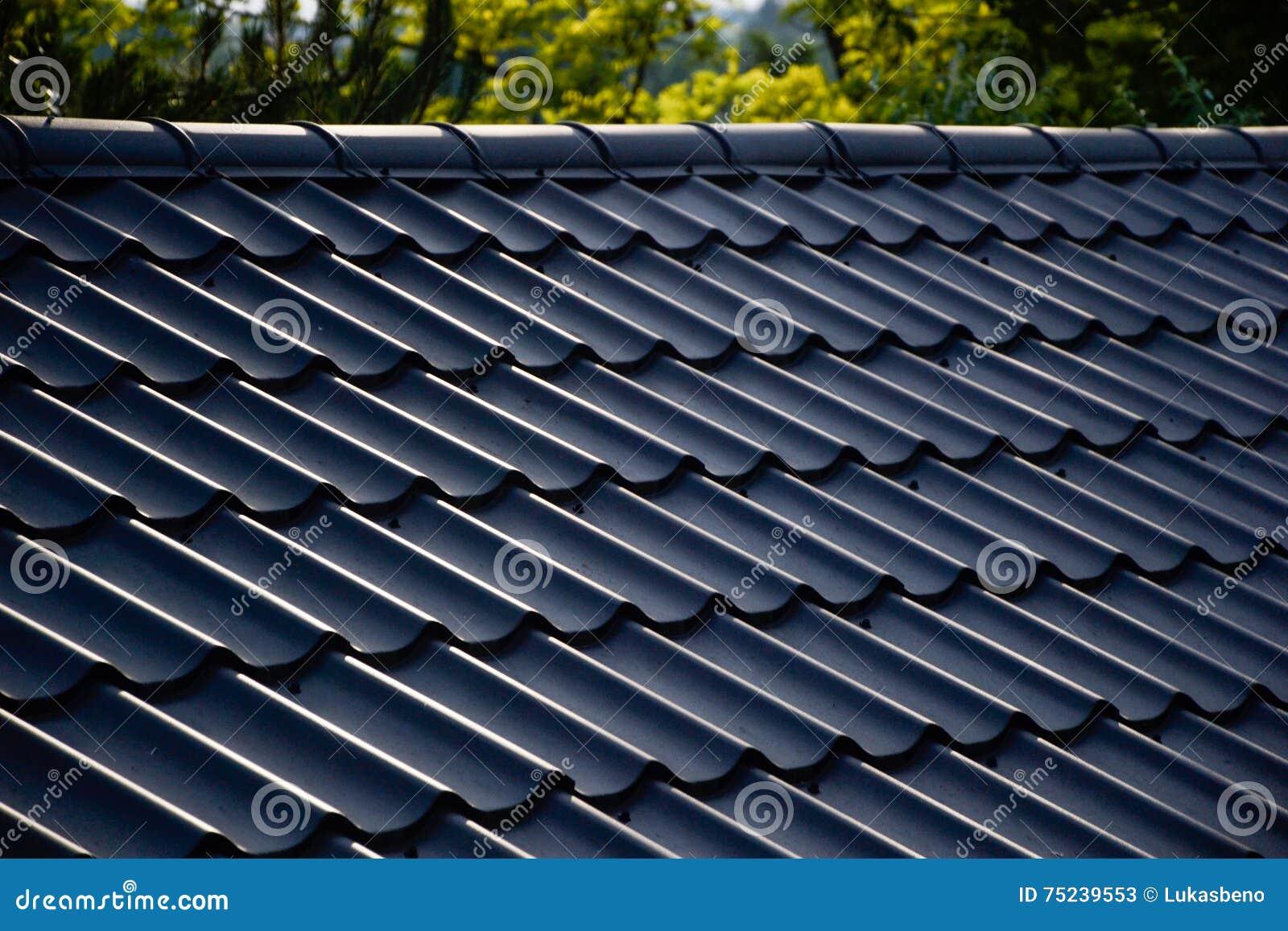 Neue Dachziegel Auf Dem Haus