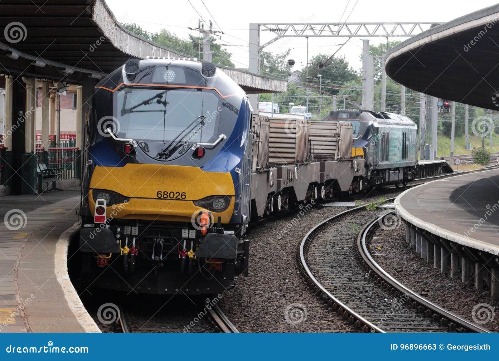 Neue Diesellokomotive auf Kernflaschenzug