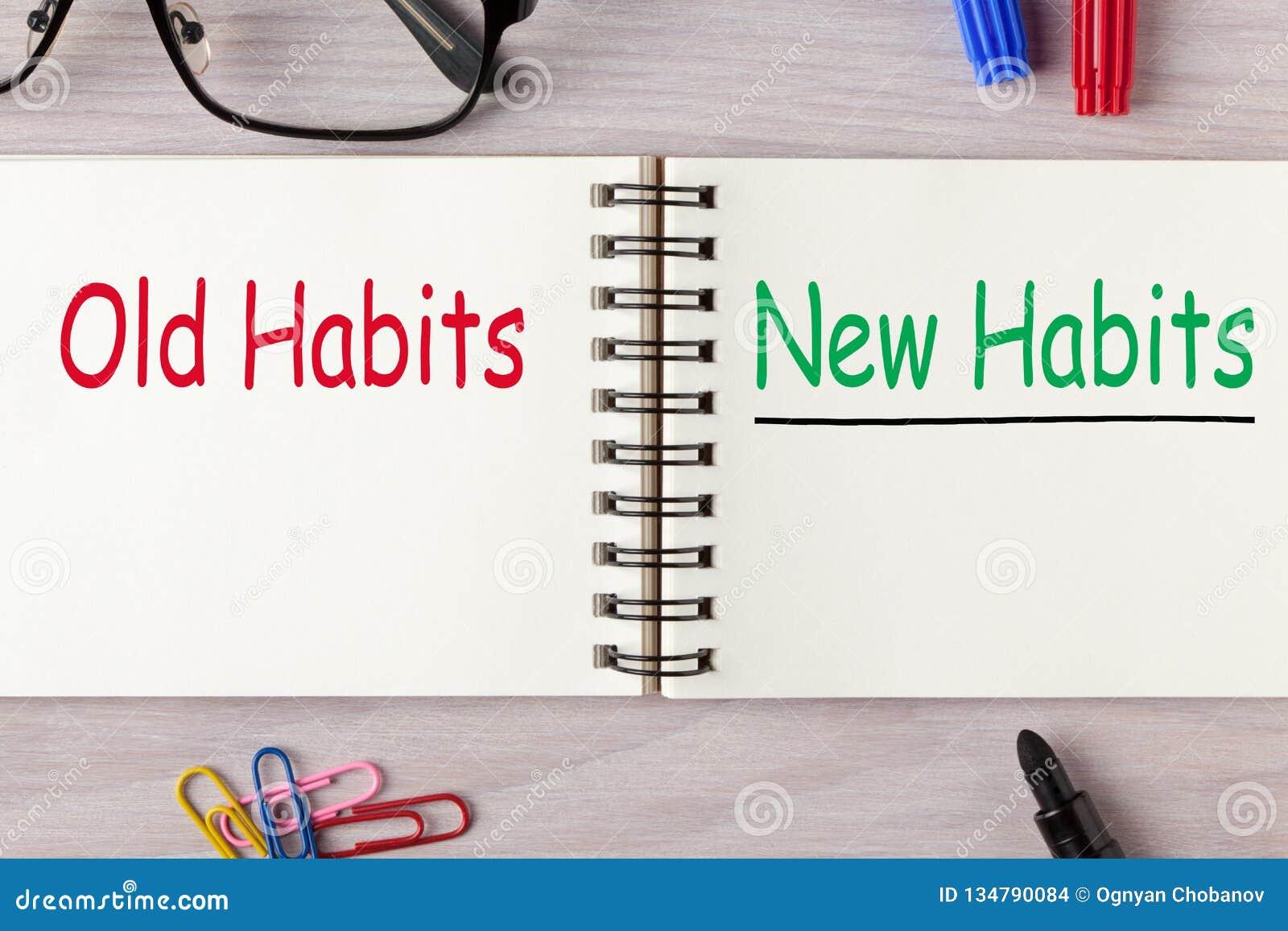 Neue Gewohnheiten gegen alte Gewohnheiten