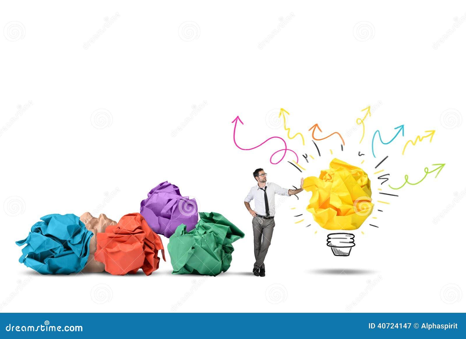 Neue Idee stockbild. Bild von inspiration, kreativität - 40724147