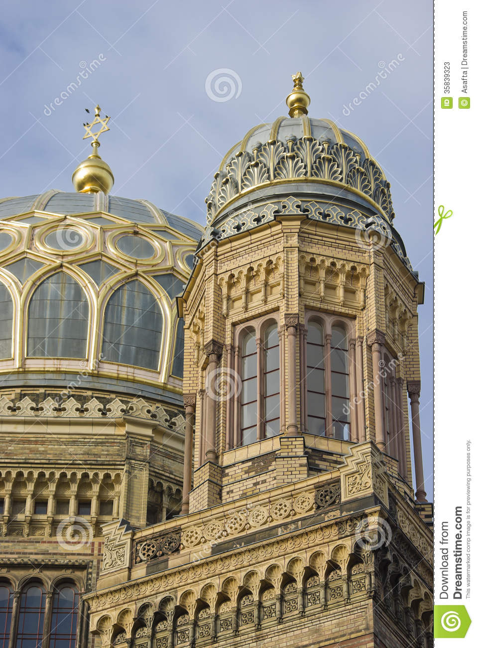 Neue Synagogue In Berlin Germay Stock Image Image Of