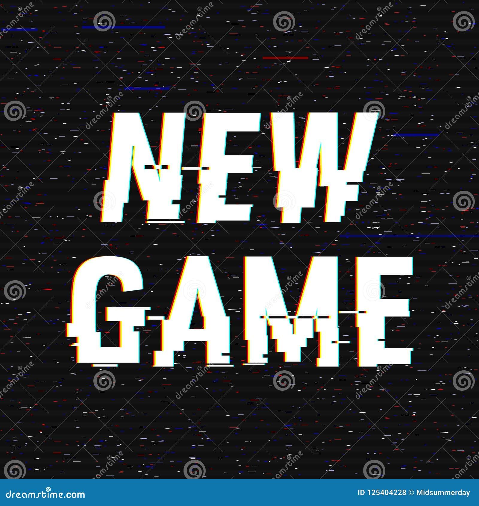 Neuer Spielstörschubtext Effekt des Anaglyph 3D Technologischer Retro- Hintergrund Auch im corel abgehobenen Betrag Kreative Web-