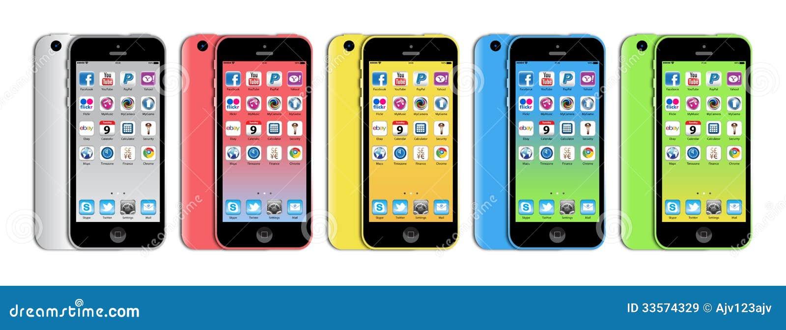 Neues Apple-iphone 5c