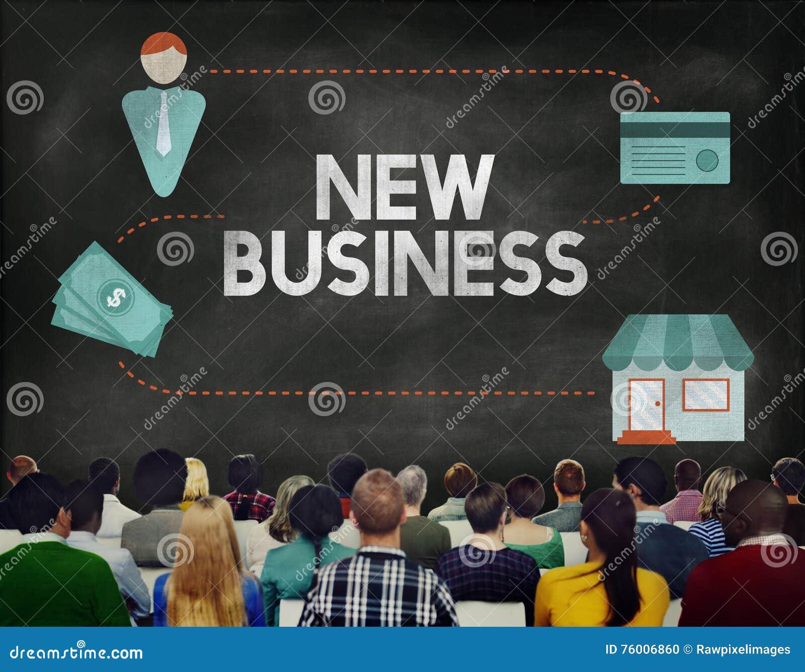 Neues Geschäft beginnen oben neue Ideen-Visions-Konzept