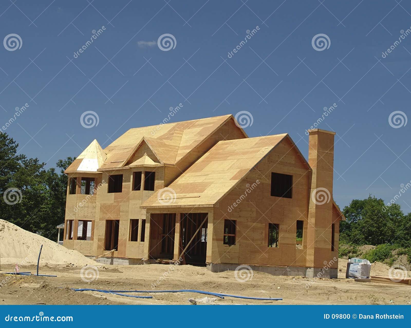 Neues Haus, das aufgebaut wird