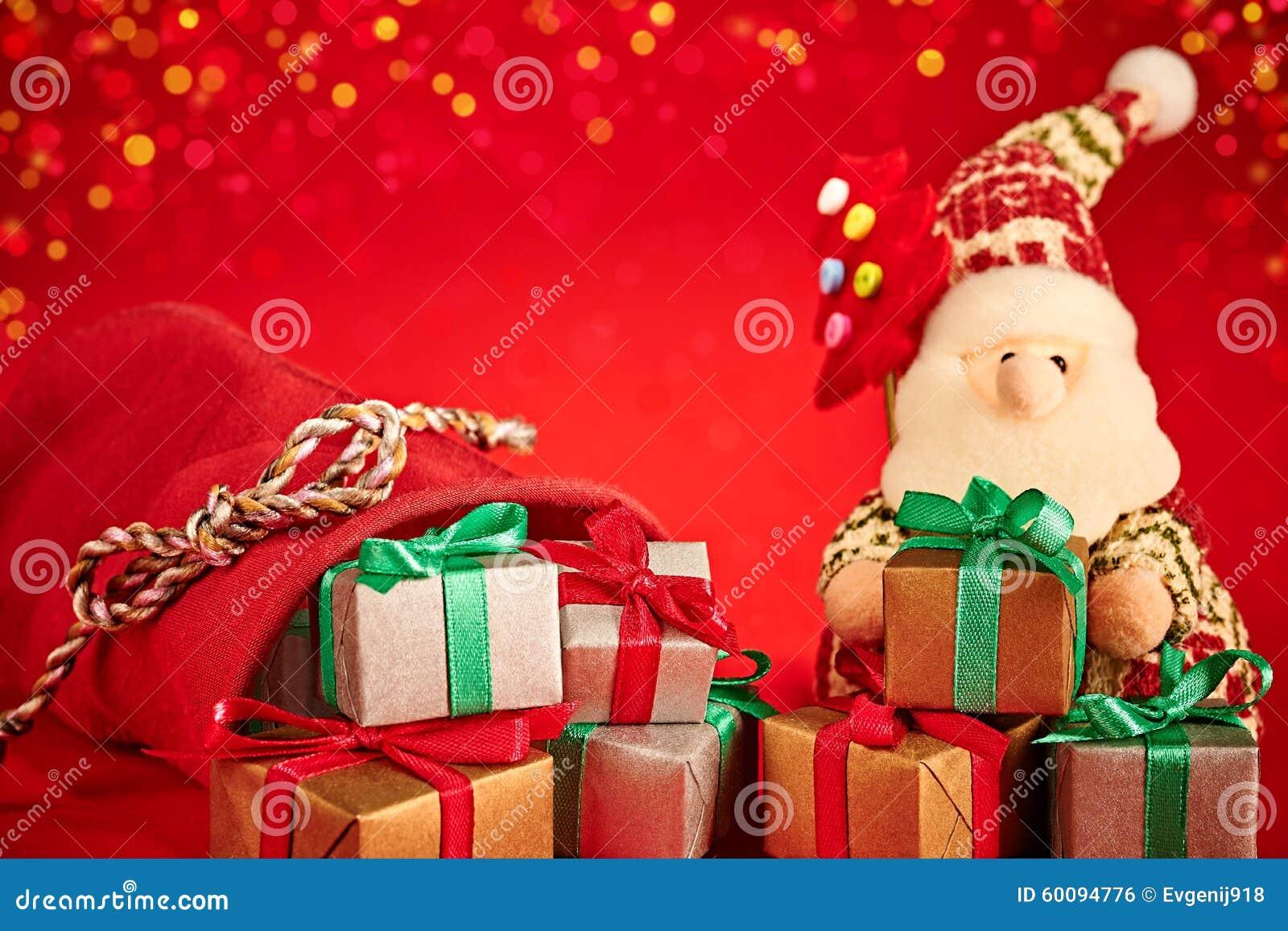 Neues Jahr 2016 Frohe Weihnachten Santa Claus Und Stockfoto - Bild ...
